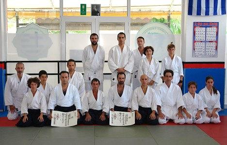 Special training for the 6th Dan appointment to Sensei Ferdinando D'Agata at Hania Dojo on October, 2013